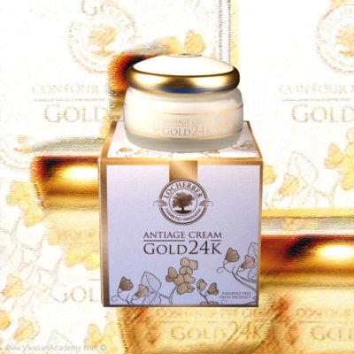 Creme Guld 24K Locherber